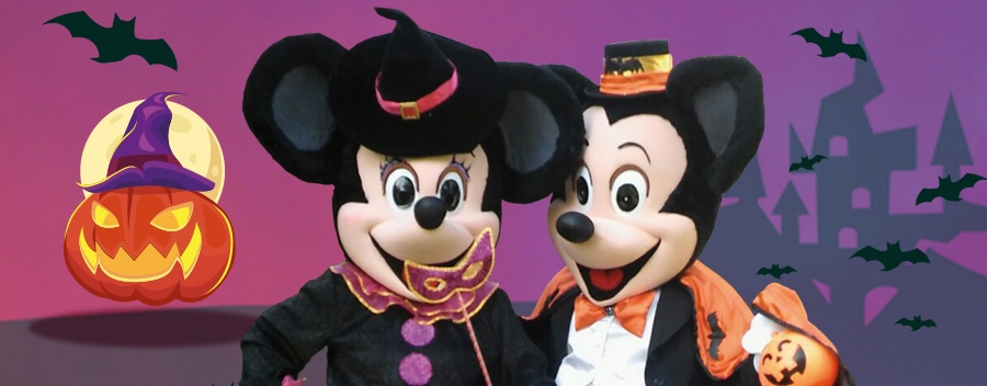 Halloween Mickey eta Minnierekin