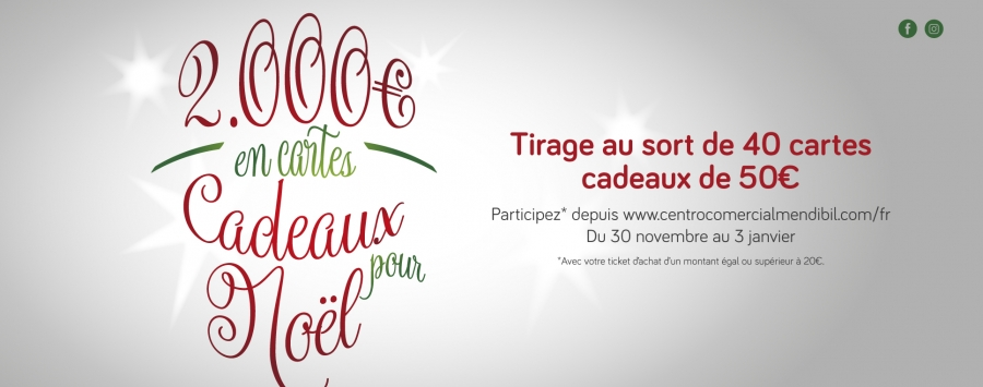 Tirage au sorte de 2.000€ en Cartes Cadeaux